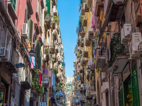 Colorful streets of Naples, Italy
